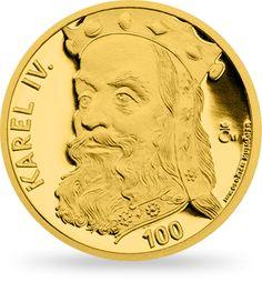 Stříbrná pozlacená medaile Karel IV.