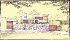 Image 24 of 29 from gallery of The Triplex Apartments / Luigi Rosselli. Residential Architecture, Architecture Design, Plan Sketch, Drawing Sketches, Drawings, Luigi, Vintage World Maps, House Design, Apartments
