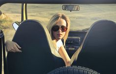 Woman Wearing Sunglasses Riding in Car  Free Stock Photo
