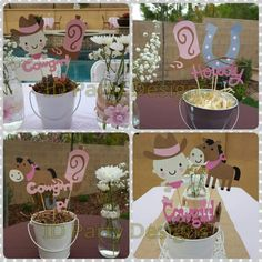 Cowgirl Baby Shower Cowgirl Birthday Cowgirl Centerpieces Cowgirl Up  #handmade #diecut #forsale Idpartydesigns