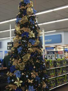 I love decorating Christmas trees. Blue Christmas Tree Decorations, Elegant Christmas Trees, Xmas Trees, Colorful Christmas Tree, Diy Christmas Ornaments, Christmas Snowman, Christmas 2019, Christmas Themes, Christmas Tree Inspiration