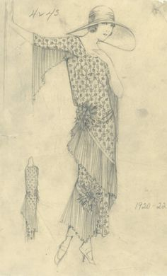 Chanel fashion illustration, 1920