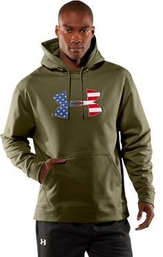 "Under Armour ""Big Flag"" fleece hoody (marine green)"