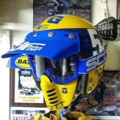 Bmx, Yamaha Motocross, Racing Motorcycles, Retro Helmet, Vintage Helmet, Vintage Motocross, Vintage Racing, Moto Bike, Motorcycle Helmets
