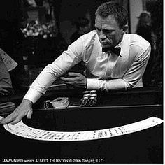 Casino Royale - his clothes were tailored to fit him like a glove.
