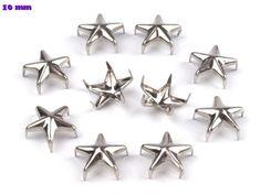 50 Ziernieten 10mm Stern silber von fashion-dekoatelier auf DaWanda.com