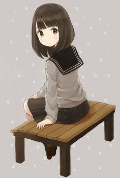 Sitting around [Original] Cute Anime Chibi, Cute Anime Pics, Anime Girl Cute, Anime Neko, Anime Eyes, Kawaii Anime Girl, Anime Art Girl, Anime Love, Manga Anime