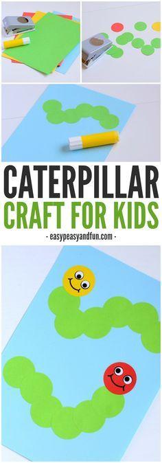 Caterpillar Craft – Paper Circle Crafts for Kids