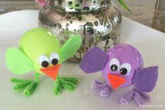 Plastic Easter Egg Chicks Craft for Kids