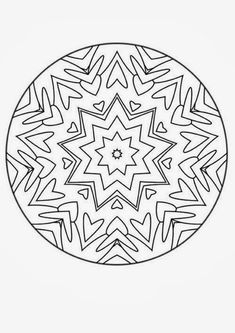 This Advanced Mandala Coloring Sheet Is A Fun Design And Quite Challenging To Color KKK Page Can Be Decorated Online With The