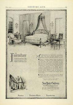 1922 Ad Marie Antoinette Boudoir Reproduction Home Furniture New York COL2