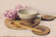 Artisan Ceramic Bowl - Ceramic Bowl - Wheel Thrown Pottery - Clay Bowl - Buddha Bowl - Breakfast Bowl - Oatmeal Bowl by KIWIetnoArt on Etsy
