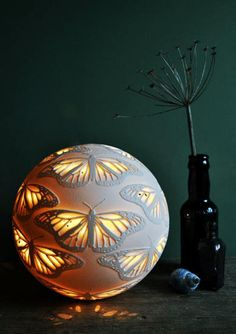 Ceramics by Amy Cooper at Studiopottery.co.uk - Monarch Sphere, 2013. Approx. 20cms.