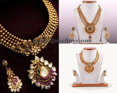 Jewellery Designs: Antique Sets with Classic Jhumkas