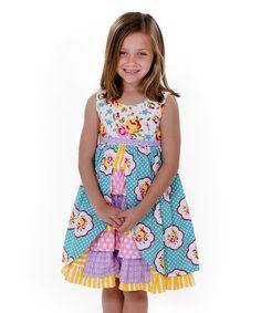 Look at this #zulilyfind! Pink & Purple Maiden Collection Hannah Dress - Toddler & Girls #zulilyfinds