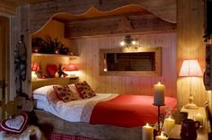 Rustic Bed Ideas | Bedroom Designs: Rustic Bedroom Design Ideas For Couples Wooden Wall ...