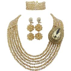 Ellenjewelry Gold African Beads Jewelry Sets Nigerian Wedding Jewelry Sets(C-1198) * You can get more details here : trend jewelry 2016