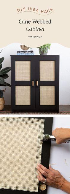Refurbished Furniture, Ikea Furniture, Furniture Makeover, Furniture Storage, Living Room Cane Furniture, Diy Home Furniture, Black Furniture, Cabinet Furniture, Do It Yourself Ikea