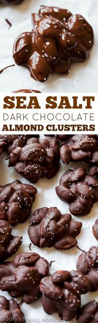 Sea Salt Dark Chocolate Almond Clusters