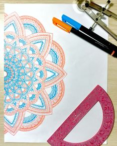 Hand drawn blue and peach mandala drawing Mandala Drawing, Mandala Art, Blue Peach, Hand Drawn, How To Draw Hands, Canvas Art, Arts And Crafts, Doodles, Ink