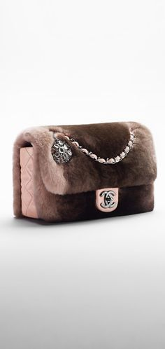Chanel Bags : Orylag fur and lambskin flap bag. - CHANEL Orylag fur and lambskin flap bag. - CHANEL Sharing is caring, don't forget to share ! Burberry Handbags, Chanel Handbags, Purses And Handbags, Chanel Bags, Chanel Chanel, Beautiful Handbags, Beautiful Bags, Chanel Fashion, Fashion Bags