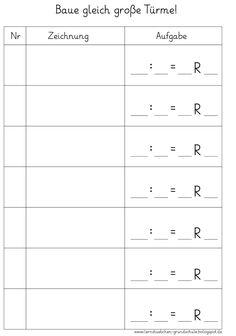 Lernstübchen: Zahlenkarten zum Legen | Schule - Mathe 1 | Pinterest