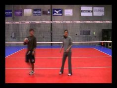Volleyball Passing Drills - this one helps to keep your eye on the ball. I have a few girls who could use this one :)