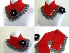 Irish lace, crochet, crochet patterns, clothing and decorations for the house, crocheted. Crochet Collar Pattern, Poncho Crochet, Col Crochet, Crochet Flower Scarf, Crochet Lace Collar, Crochet Butterfly, Crochet Scarves, Irish Crochet, Crochet Designs