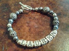 $42 Handmade name bracelets by B-Dit, great for Mothers Day!