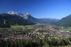 The Zugspitze is a dramatic mountain peak situated high above the picturesque town of Garmisch Partenkirchen in Southern Bavaria, Germany, on the border with Austria.