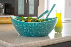 New PolyPaper Serving Bowl and Spoons made from Recycled Plastic & Recycled Paper - Made in USA * EcoSmart by Architec