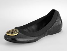 Tory Burch Caroline flat. Have in nude- want in black. Much better than revas.
