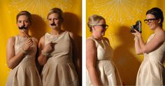 The bridesmaids in our DIY Photo Booth!