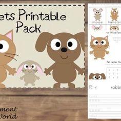 {FREE} Printable Pets Pack