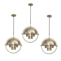 Set of Three Louis Weisdorf Pendants for Lyfa | From a unique collection of antique and modern chandeliers and pendants  at http://www.1stdibs.com/furniture/lighting/chandeliers-pendant-lights/