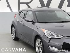 2013 Hyundai Veloster Veloster Base w/Tech Pkg Gray 2013 VELOSTER with 19817 Miles for sale at Carvana