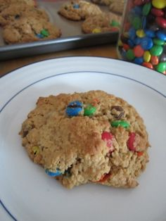 Flourless Peanut Butter M and Chocolate Chip Cookies