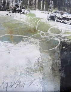 """ by Renate Migas, Landscapes: Spring, Poetry, Painting Abstract Landscape Painting, Landscape Art, Landscape Paintings, Abstract Art, Painting Workshop, Black And White Painting, Paintings I Love, Mellow Yellow, Abstract Expressionism"