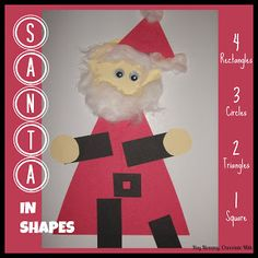Santa in Shapes - toddler/preschool craft