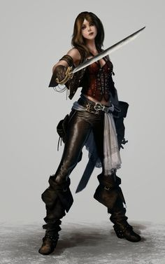 female fighter / swashbuckler / rogue with blade, leather, big boots character inspiration for DnD / Pathfinder Картинки по запросу female Fantasy Girl, Chica Fantasy, Fantasy Warrior, Fantasy Women, Fantasy Rpg, Medieval Fantasy, Fantasy Artwork, Dnd Characters, Fantasy Characters