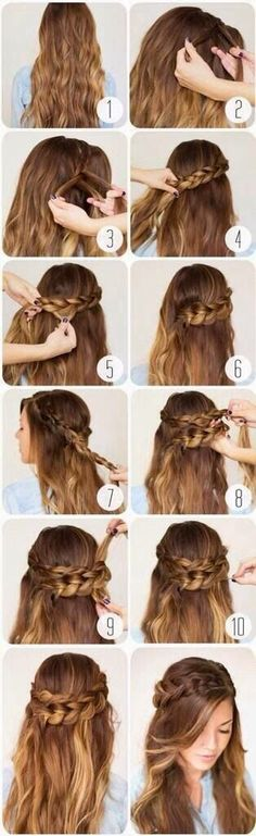 Hairstyles & Fashion: 5 Cute Hairs tutorial For Valentine's Day