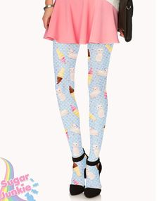 Kitty Party Tights by Sugar Junkie by SugarJunkieShop on Etsy, $28.00