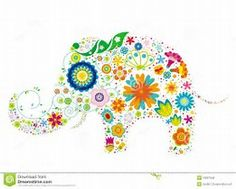 Illustration about A elephant design made with colorful flowers. Illustration of funky, white, festive - 10827946 Elephant Illustration, Skull Illustration, Elephant Design, Elephant Art, Elephant Images, Elephant Baby Blanket, Colorful Elephant, Free Stencils, Hippie Love