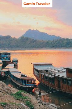 Sunset in Mekong River. Visiting Luang Prabang I can recommend you to check the sunset.