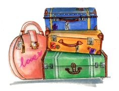 Pack like a professional: for the fashionista. New blog is up EARLY because I'm goin' on vacation!!! Read here for how to Pack Like a Professional! Custom Illustration for Pink Pizza Events http://blog.emilybrickel.com/pack-like-a-professional-for-the-fashionista/#sthash.sSkK24F7.dpbs