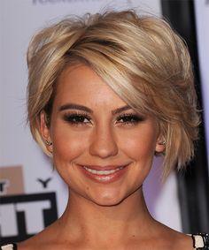 Chelsea Kane Short Straight Hairstyle - Medium Brunette (Honey)