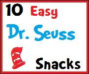 Seuss Snacks - i'm sure the day campers would love this!