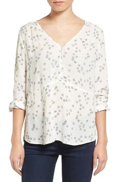 Hinge Shirred Blouse available at #Nordstrom
