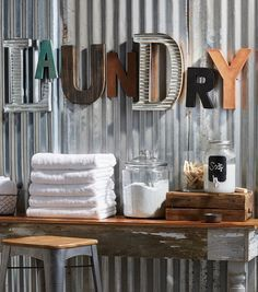 Cool idea for letter signs, use varied letters to give collectable feel