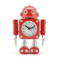 Red tin robot fun alarm clock Novelty Mini Robot robot clock Tank robot Cool android look clock funny clocks